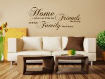 Home Is Where We Treat Our Wall Art Sticker -Wall Sticker, Decal, Vinyl Transfer